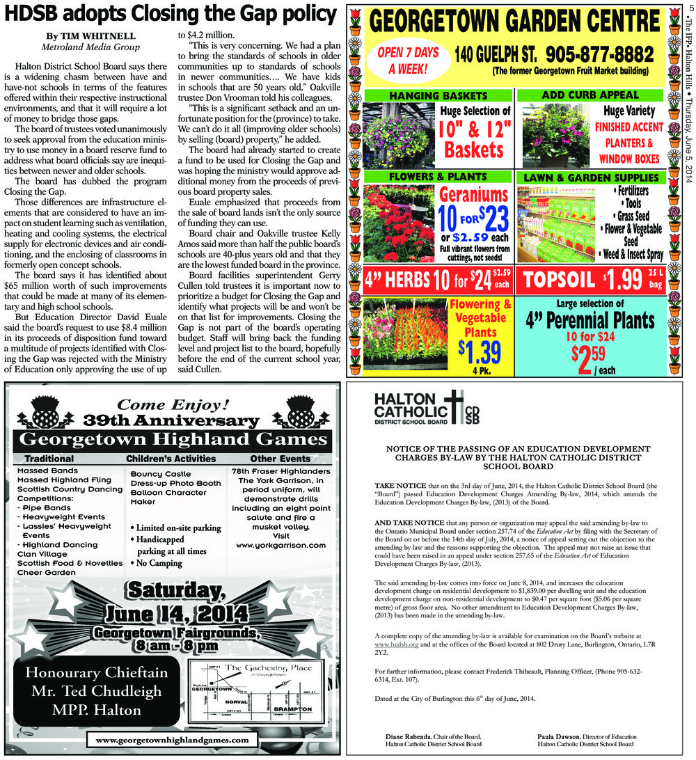 Independent & Free Press (Georgetown, ON), 5 Jun 2014