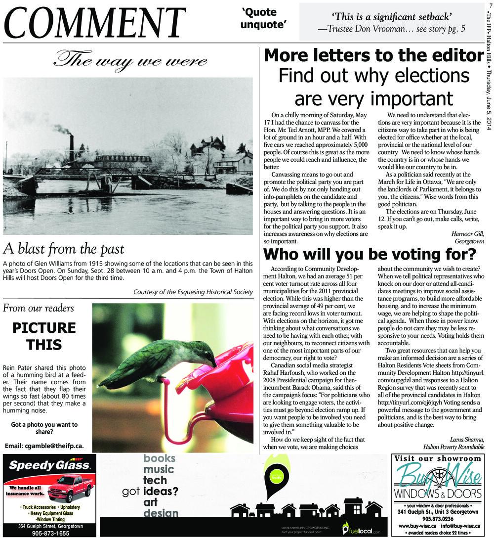 Independent & Free Press (Georgetown, ON), 5 Jun 2014