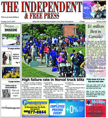 Independent & Free Press (Georgetown, ON), 12 Jun 2014