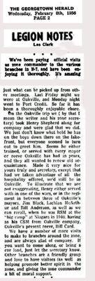 Legion Notes February 8 1956