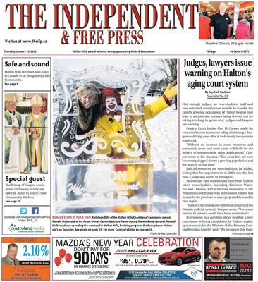 Independent & Free Press (Georgetown, ON), 29 Jan 2015