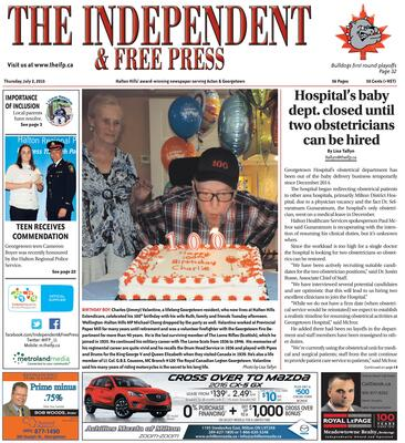 Independent & Free Press (Georgetown, ON), 2 Jul 2015