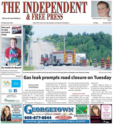 Independent & Free Press (Georgetown, ON), 6 Aug 2015