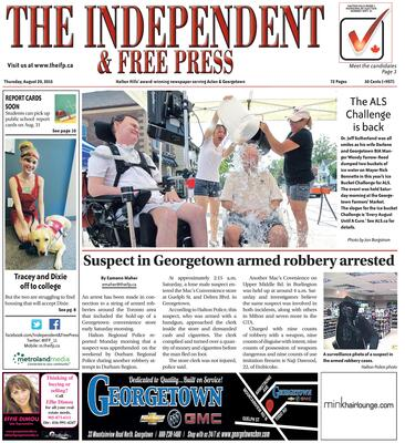 Independent & Free Press (Georgetown, ON), 20 Aug 2015