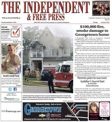 Independent & Free Press (Georgetown, ON), 17 Sep 2015