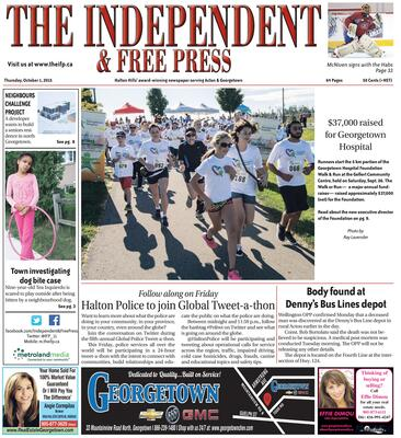 Independent & Free Press (Georgetown, ON), 1 Oct 2015