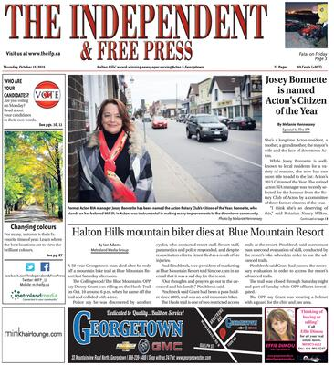 Independent & Free Press (Georgetown, ON), 15 Oct 2015
