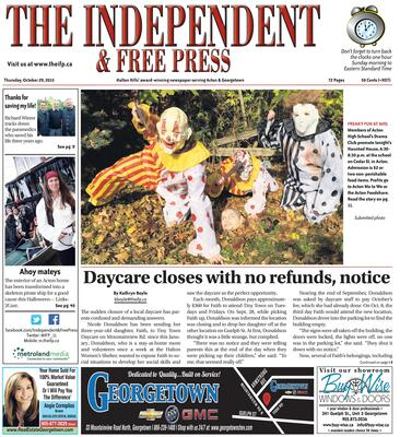 Independent & Free Press (Georgetown, ON), 29 Oct 2015
