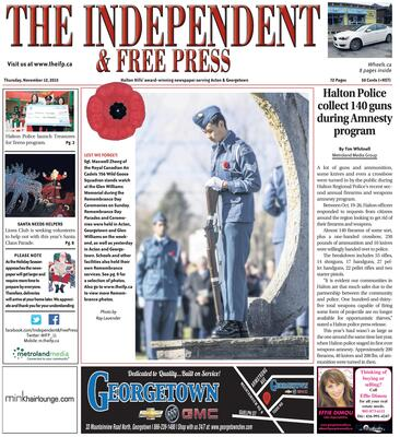 Independent & Free Press (Georgetown, ON), 12 Nov 2015
