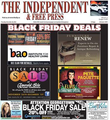 Independent & Free Press (Georgetown, ON), 26 Nov 2015