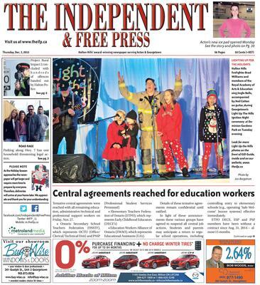 Independent & Free Press (Georgetown, ON), 3 Dec 2015