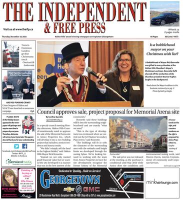 Independent & Free Press (Georgetown, ON), 10 Dec 2015