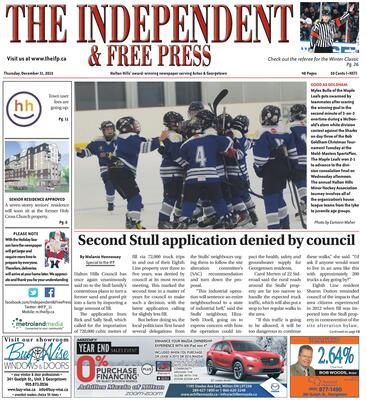 Independent & Free Press (Georgetown, ON), 31 Dec 2015