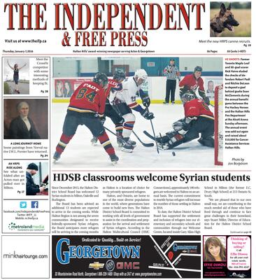 Independent & Free Press (Georgetown, ON), 7 Jan 2016