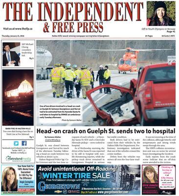 Independent & Free Press (Georgetown, ON), 21 Jan 2016