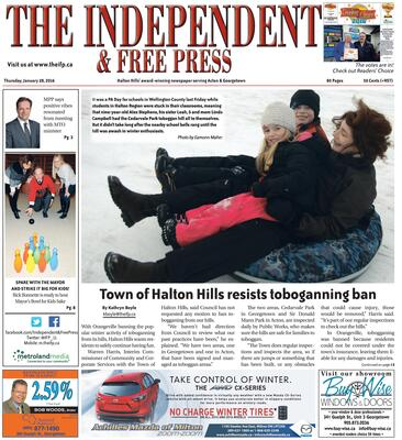 Independent & Free Press (Georgetown, ON), 28 Jan 2016