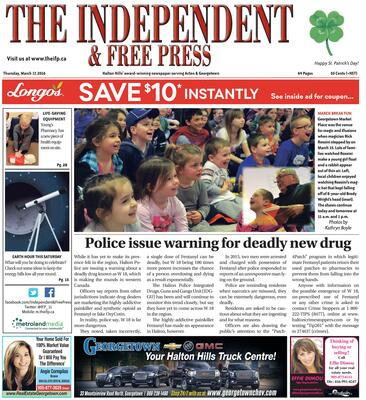 Independent & Free Press (Georgetown, ON), 17 Mar 2016