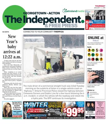 Independent & Free Press (Georgetown, ON), 4 Jan 2018