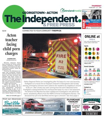 Independent & Free Press (Georgetown, ON), 22 Feb 2018