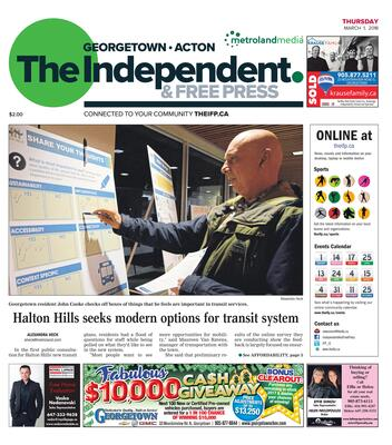 Independent & Free Press (Georgetown, ON), 1 Mar 2018