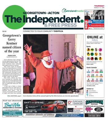 Independent & Free Press (Georgetown, ON), 8 Mar 2018