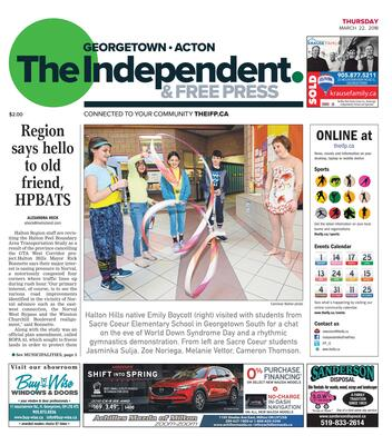 Independent & Free Press (Georgetown, ON), 22 Mar 2018