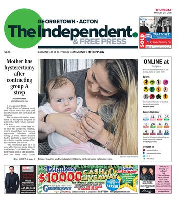 Independent & Free Press (Georgetown, ON), 29 Mar 2018