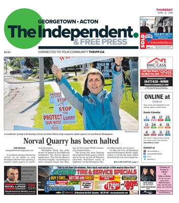 Independent & Free Press (Georgetown, ON), 12 Apr 2018