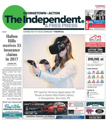 Independent & Free Press (Georgetown, ON), 19 Apr 2018