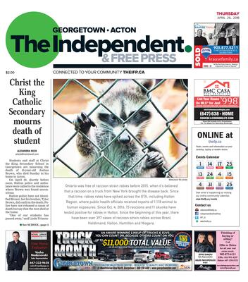 Independent & Free Press (Georgetown, ON), 26 Apr 2018