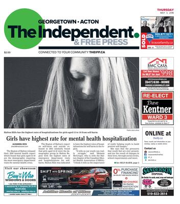 Independent & Free Press (Georgetown, ON), 3 May 2018