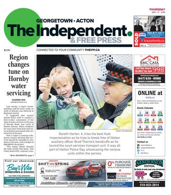Independent & Free Press (Georgetown, ON), 17 May 2018