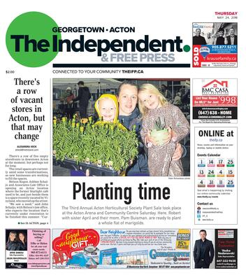 Independent & Free Press (Georgetown, ON), 24 May 2018