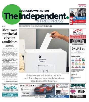 Independent & Free Press (Georgetown, ON), 31 May 2018