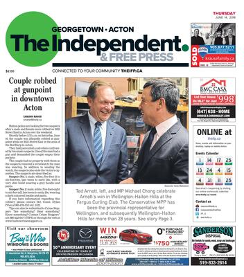 Independent & Free Press (Georgetown, ON), 14 Jun 2018