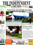 Truck rams way through two yards  Residents shaken, but escape unhurt