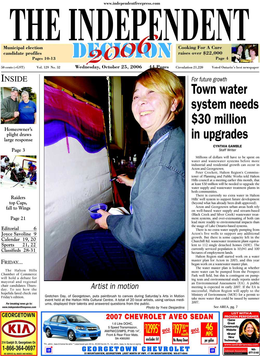 Independent & Free Press (Georgetown, ON), 25 Oct 2006