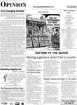 Letters to the editor...Meeting organizers weren't fair to trustee