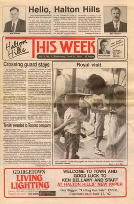 Halton Hills This Week (Georgetown, ON), 24 Jun 1992