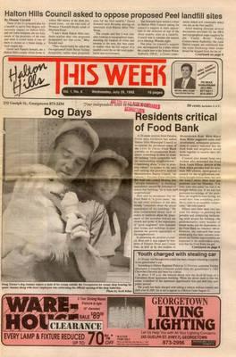 Halton Hills This Week (Georgetown, ON), 29 Jul 1992