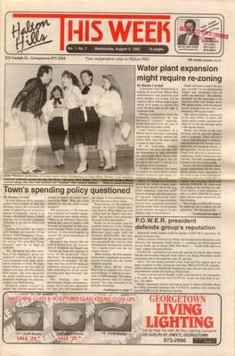 Halton Hills This Week (Georgetown, ON), 5 Aug 1992