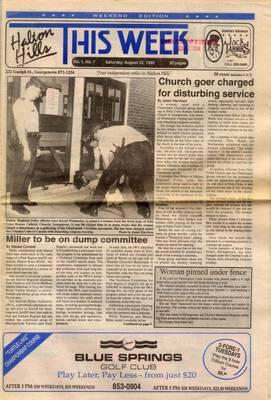 Halton Hills This Week (Georgetown, ON), 22 Aug 1992