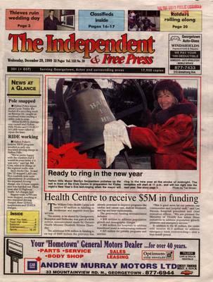 Independent & Free Press (Georgetown, ON), 29 Dec 1999