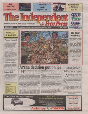 Independent & Free Press (Georgetown, ON), 25 Oct 2000
