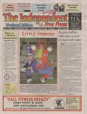 Independent & Free Press (Georgetown, ON), 27 Oct 2000