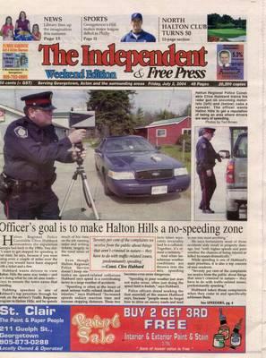 Independent & Free Press (Georgetown, ON), 2 Jul 2004