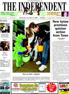 Independent & Free Press (Georgetown, ON), 1 Nov 2006