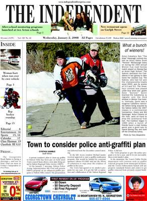 Independent & Free Press (Georgetown, ON), 2 Jan 2008