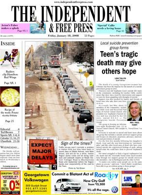Independent & Free Press (Georgetown, ON), 18 Jan 2008