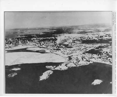 Winter Aerial Photo of Former Mill and Box Factory Site, Thessalon, circa 1935